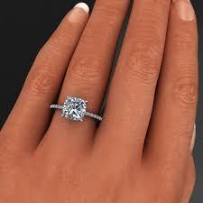 engagement rings cushion cut eliza ring 2 4 carat cushion cut neo moissanite engagement ring