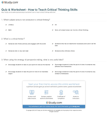 critical thinking skills worksheets worksheets