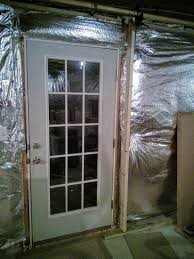 backyard basement how frame wall around existing exterior door