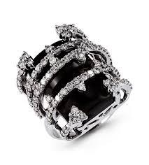 black gemstone rings images 14k white gold black onyx 1 75 ct round diamond ring gemstone jpg