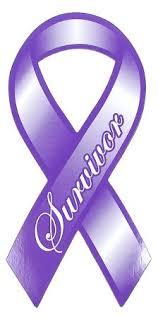 purple ribbons purple ribbon survivor magnet