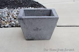 Concrete Planters Diy Concrete Planter Hometalk