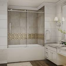 Bathtubs With Glass Shower Doors Stainless Steel Passsliding Bathtub Doors Shower Doors With Regard