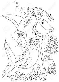 white shark pirate hat saber royalty free