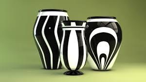 Black And White Vases Contemporary Black White Vases