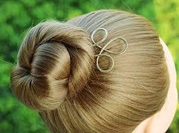 hair fork simple hair accessory celtic gold hair fork hair