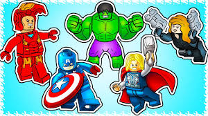 lego avengers superheroes coloring pages let u0027s color youtube