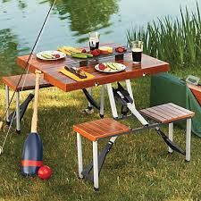 Portable Folding Picnic Table Leisure Season Portable Folding Picnic Table The Home Depot Canada