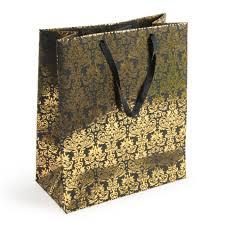 gold gift bags gold damask large gift bag