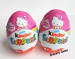 kinder suprise egg grocery gems new review hello kinder eggs