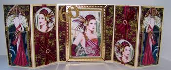 rachel u0027s cards and crafts art deco 60th birthday card envelobox