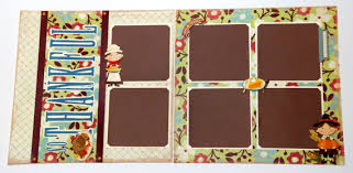 12 x 12 photo album thanksgiving scrapbook pages 2 page layout 12 x 12 fall album