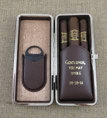 groomsmen gift personalized cigar case gifts for men fathers