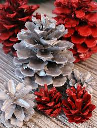 pine cone decoration ideas diy painted pine cones two