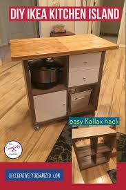 how to make your own kitchen island with cabinets diy ikea kitchen island creatively organized