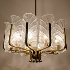 Hanging Lamps 2 X Leaves Chandelier Hanging Lamp By Carl Fagerlund For Orrefors