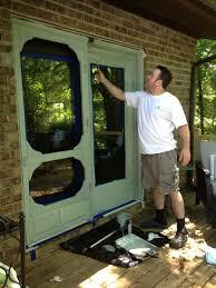 vintage screen door painted sw 6213 halcyon green bella tucker