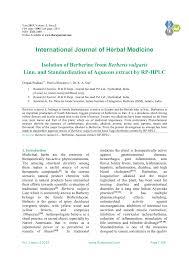 isolation of berberine from berberis vulgaris linn and