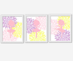 Ballerina Nursery Decor Ballerina Wall Pink Yellow Lavender Purple Baby Nursery Decor