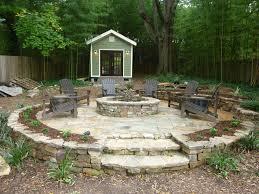 Backyard Ideas Landscaping by Fire Pit Firepit Shed Stone Patio Landscape Ideas Landscape