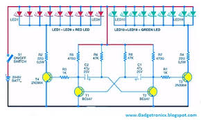 six simple led lighting circuit for christmas gadgetronicx with