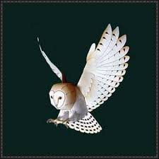 owl paper crafts animal paper model barn owl free template