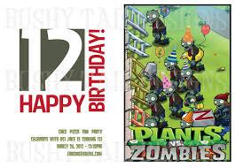 plants vs zombies birthday invitation 12 00 via etsy plants