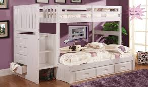 bunk beds twin over twin bunk beds with stairs white twin over