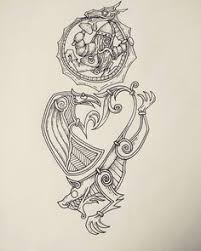 a half sleeve design with a norse mythology theme including