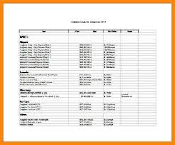 pricing sheet template price list template for excel printable