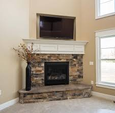 stacked stone electric fireplace electric fireplaces dining room