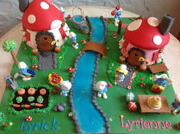 142 best smurfs birthday party images on pinterest cake designs