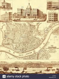 Map Of Cincinnati Vintage Cincinnati Map 1850 Stock Photo Royalty Free Image