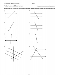 parallel lines and transversals worksheet fts e info