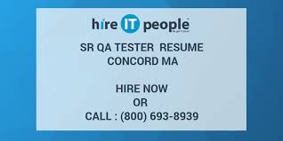 Sample Resume For Qtp Automation Testing by Sr Qa Tester Resume Concord Ma Hire It People We Get It Done