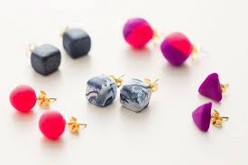 polymer clay stud earrings 13 jewelry diys you ll never believe were made with clay brit co