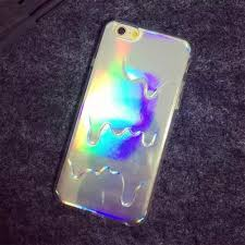 hologram stuff 3d diamond laser melting rainbow color for iphone 6