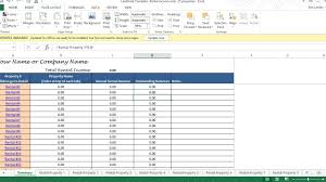 Rental Income And Expenses Spreadsheet Tenant Payment Ledger Remaining Balance Rent Due Calculator 25