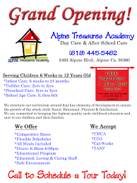 grand opening daycare flyers u2013 images free download