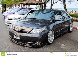 cars toyota tuned car toyota corolla altis editorial stock image image 38713989
