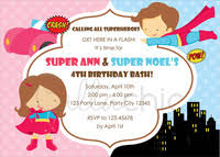 twin birthday invitation joint party dual theme callachic