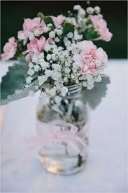 jar flower arrangements backyard pink gray and lace wedding jar flower