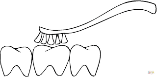 brushing teeth coloring free printable coloring pages