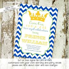prince baby shower invitations royal baby shower invitation templates or prince birthday