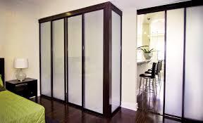 Interior Closet Sliding Doors Glass Sliding Closet Doors With Black Frame Finish