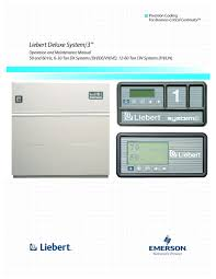 liebert deluxe system 3 ve manuals users guides