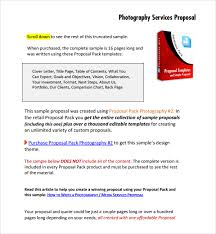 sample photography proposal template 13 free documents in pdf word