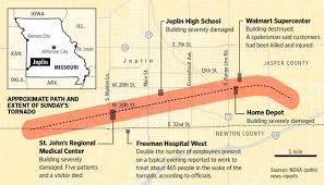 joplin mo map joplin tornado path map nature in the