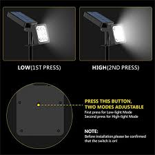 Outdoor Solar Landscape Lights Solar Spotlight 2 In 1 Waterproof Outdoor Solar Landscape
