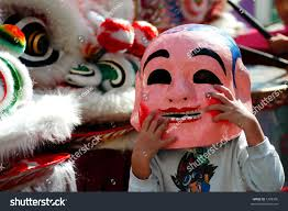 new year lion costume new year lion mask stock photo 1299306
